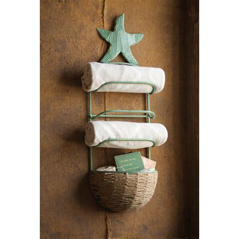 towel basket for bathroom starfish towel rack with basket