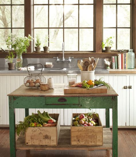 Green Kitchen Table Country Style Interior Heaven