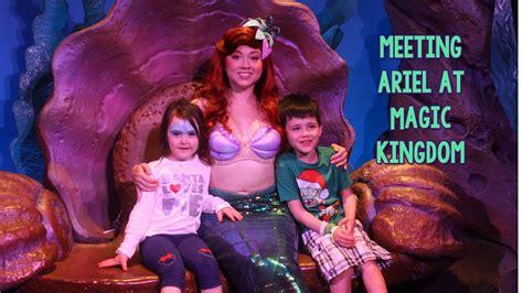 megan park wdw meeting the little mermaid at ariel s grotto disney