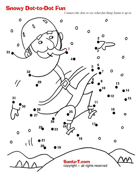 dot to dot christmas pictures santa dot to dot more activities and coloring pages at santatimes printable