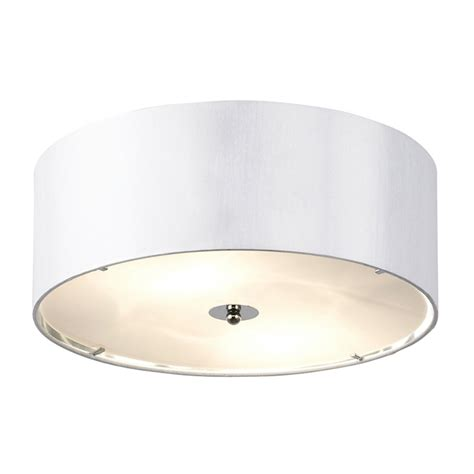 endon lighting franco franco 40wh white semi flush ceiling