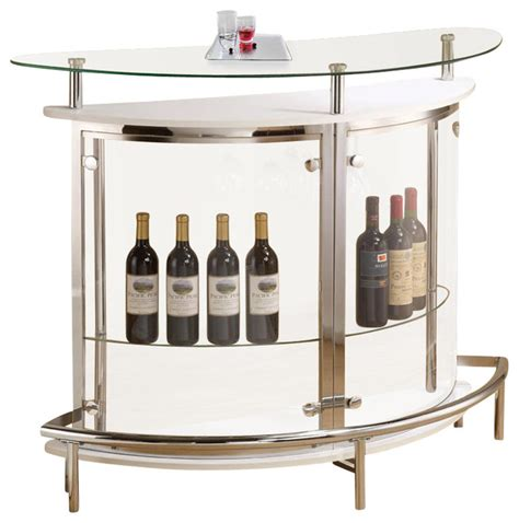 Wine Rack Bar Table by Modern White Clear Front Glass Top Wine Stemware Rack Bar Unit Table Wine And