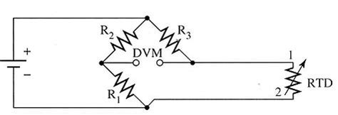 rtd bridge resistors electrical circuits for rtds