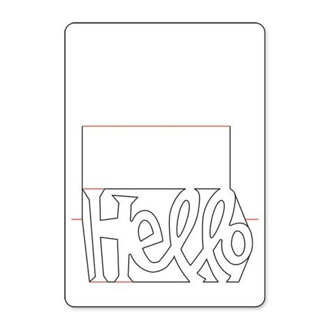 thank you popup card template free sizzix pop n cuts magnetic insert die phrase hello 3 d