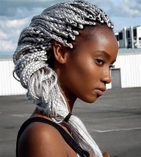 grey booty braids top 20 all the rage looks with long box braids