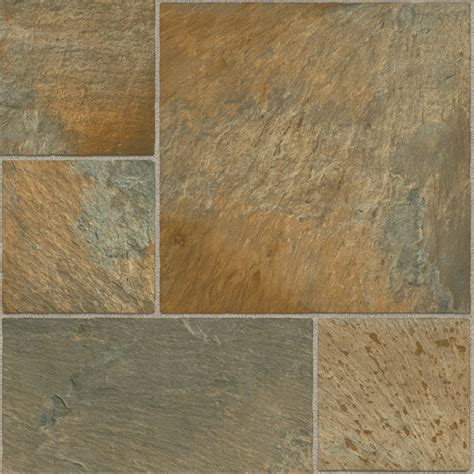 Tarkett Vinyl Sheet Flooring Shop Tarkett 12 Ft W Copper Modular Low Gloss Finish Sheet Vinyl At Lowes