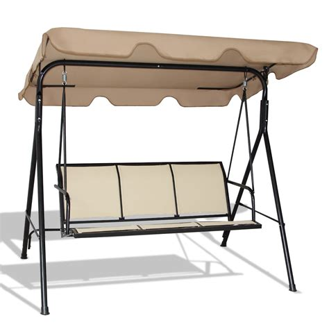 swing bench with canopy compare adeco canopy awning porch swings bench