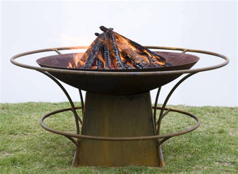 Chiminea Sydney wok style firepit pit with rails and base