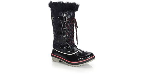 Tofino Cate Quilted Boot by Sorel Tofino Quilted Water Resistant Boots In Black Lyst