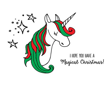 Magical Unicorn Christmas. Free Humor & Pranks eCards