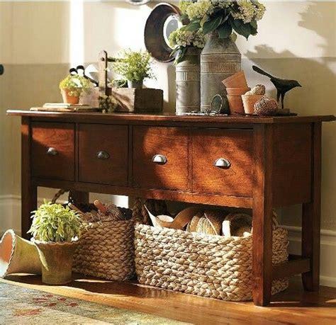 Pottery Barn Sofa Table Baskets Home Sweet Home Sofa Table With Baskets