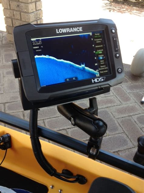 ram mounts perth fitting a lowrance hds7 gen2 touch on pro angler 12 by