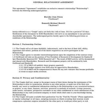 personal relationship contract template 20 relationship contract templates relationship agreements