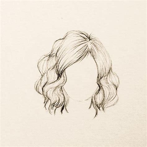 desenho cabelo ondulado curto e volumoso croquis e desenhos 2