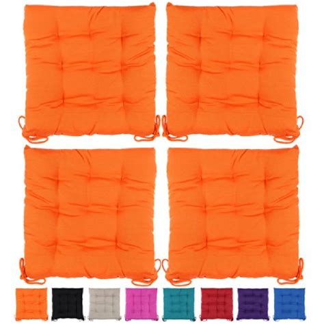 cuscini trapuntati set di 4 cuscini da sedia 40x40x4cm comodi e pratici