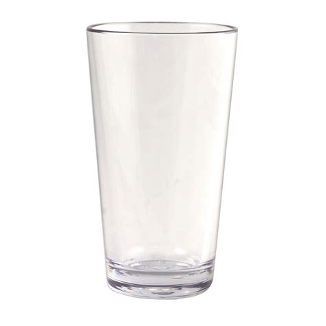 plastic barware strahl 403803 16 oz mixing glass clear poly plastic