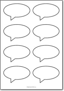 8 Blank Square Speech Bubbles Free Printables Free Speech Bubbles Printable