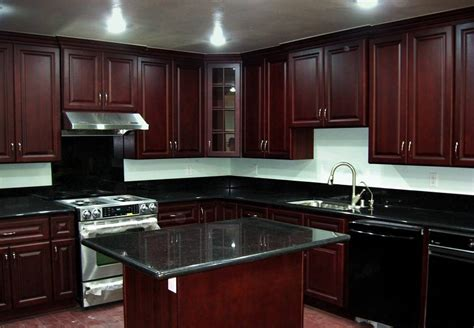 Dark Kitchen Cabinets With Dark Countertops | black granite countertops with dark cabinets