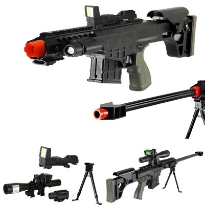 airsoft sniper rifle with bbs | gun package