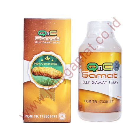 Qnc Jelly Gamat qnc jelly gamat warna gold 100 gamat emas
