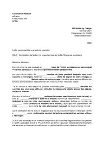Lettre De Contestation Orange Mobile lettre de contestation d une facture m6 mobile by orange