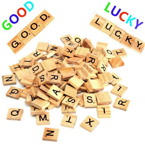 fa scrabble word 100pcs wooden scrabble letters scrapbooking