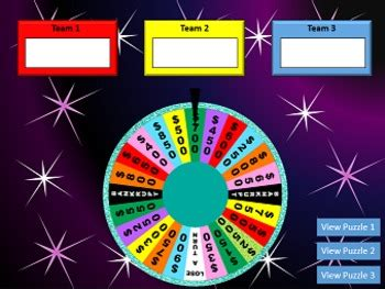 Spin The Wheel Game Wheel Of Fortune Inspired Powerpoint Spinning Wheel Powerpoint