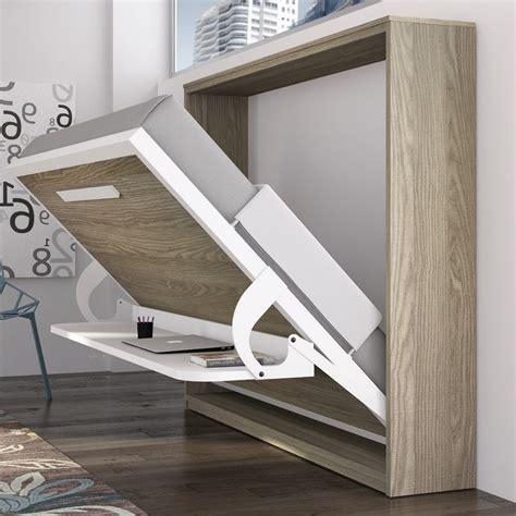 bureau avec 騁ag鑽es armoire lit avec bureau krono couchage 140 190 20 cm
