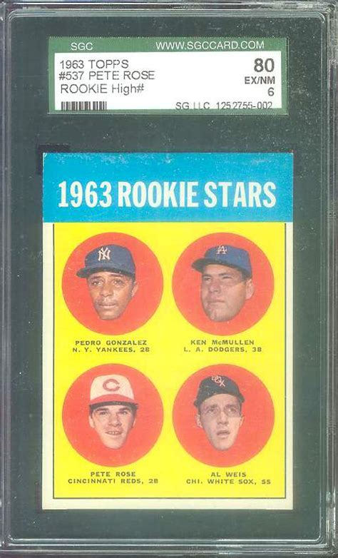 Weis Gift Card Value - 1963 topps 537 pete rose rookie b scarce high series reds