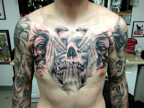 See No Evil Skull Best Tattoo Ideas Designs Evil Skull Tattoos