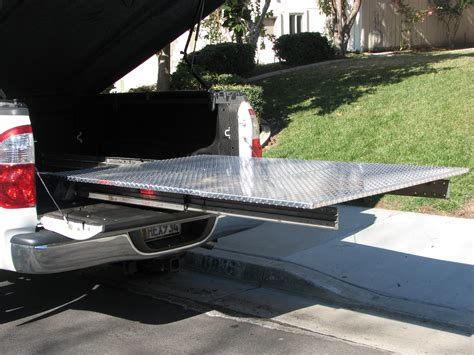 sliding truck bed diy truck bed slide