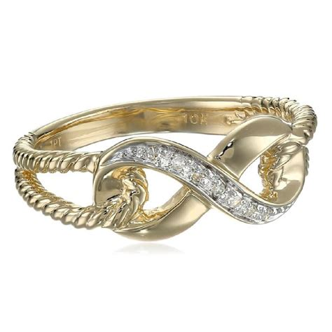 10k yellow gold infinity ringamazing jewelry world