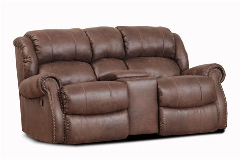 Reclining Loveseats With Console by Wyoming Espresso Rocker Reclining Loveseat With Console