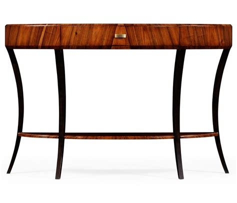 deco console table deco satin large demilune console table for drawer