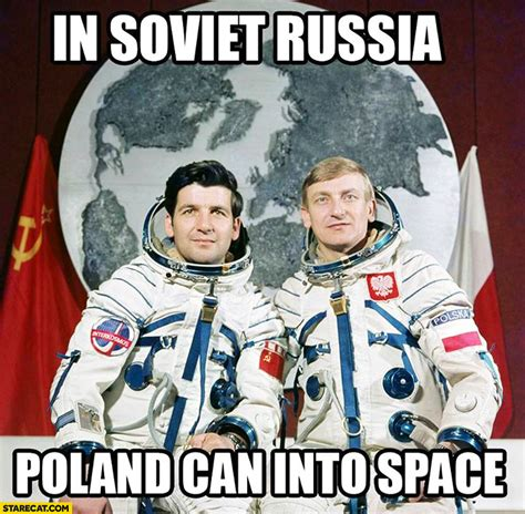 russian in space in soviet russia poland can into space starecat