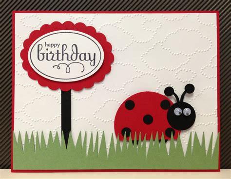 ladybug cards ladybug punch stin up birthday card kit 5 cards