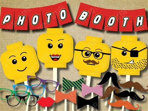 printable lego photo booth props 17 best images about lego birthday party on pinterest