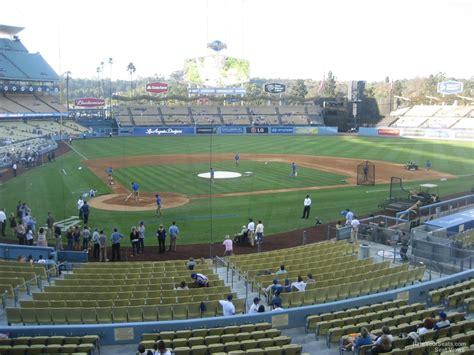 dodgers stadium sections dodger stadium section 114 rateyourseats com