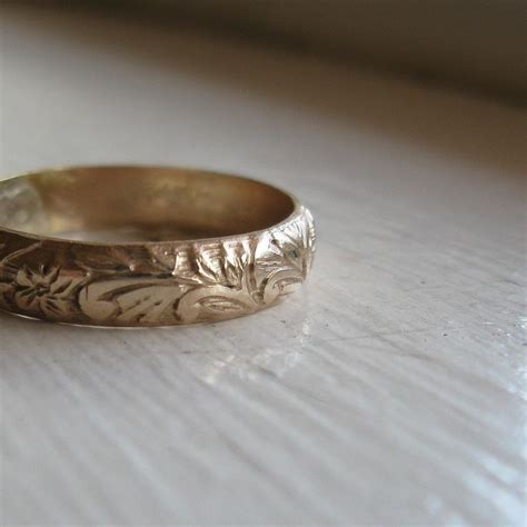 rustic gold wedding ring rustic 14k gold fill renaissance wedding ring