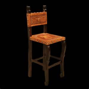 Home Interiors Online Catalog Cowboy Bar Chair With Hand Tooled Leather