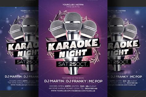 free templates for karaoke flyers karaoke night flyer template 3 flyer templates on