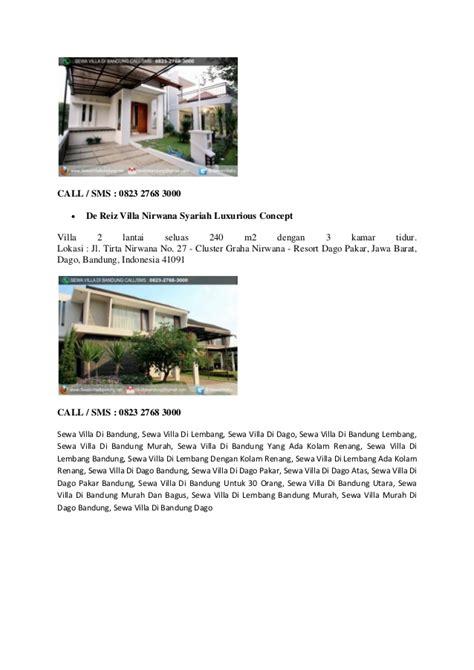 sewa villa di bandung hp 0823 2768 3000