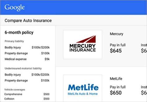 Google Launches Auto Insurance Comparison Shopping Engine