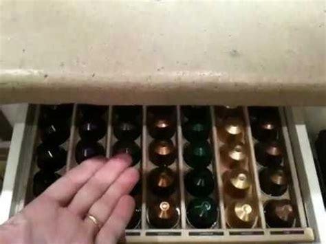 tiroir  capsules nespresso youtube