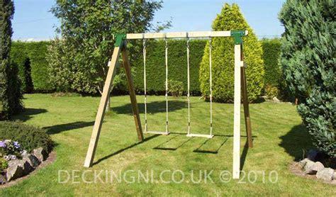double garden swing climbing frames