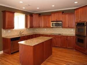 Pictures Kitchen Cabinets Pictures Of Kitchens Traditional Medium Wood Kitchens Cherry Color Page 2