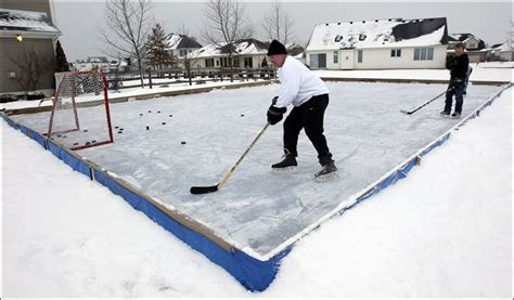 hockey rink in backyard backyard rinks not big business toledo blade