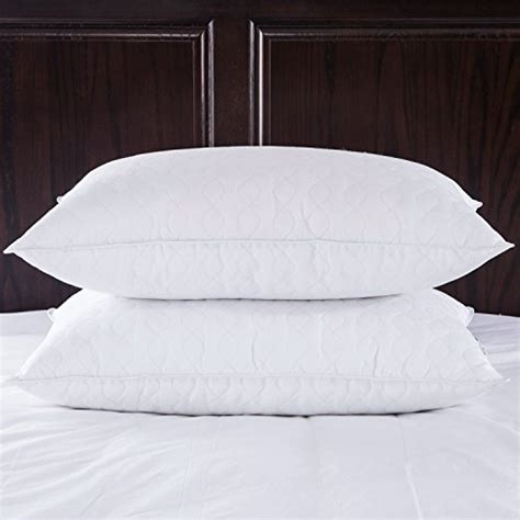 goose feather down pillow in white set of 2 bed bath puredown quilted white goose feather and down pillow set