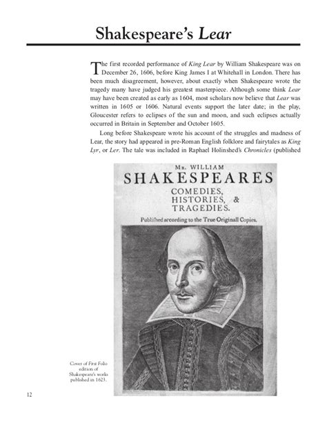dec 26 1606 king lear performed at court on this day in 1606 william shakespeare s play king king lear play guide