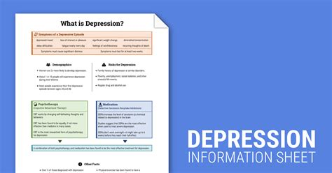 Therapist Aid Worksheets by Depression Info Sheet Worksheet Therapist Aid